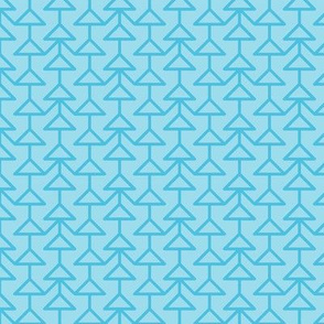 two-tone geometric pattern 10 in aqua blues