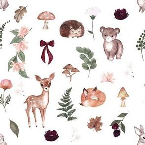 Dark Enchanted Woodland Animals