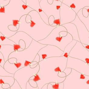 twine and hearts pink