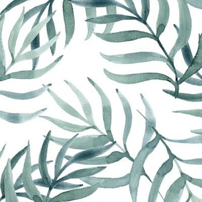 Palm Fronds in Gray