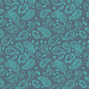 Avocado Paisley in Charcoal