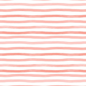 Coral watercolor stripes