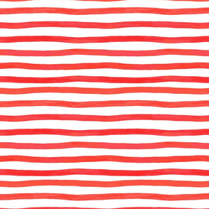 Red watercolor stripes