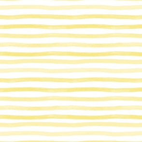 Yellow watercolor stripes