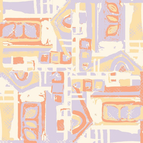 abstract blocks sunkiss lavender