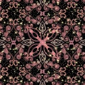 Whimsical Pink Damask