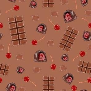 chocolate covered cherries - milk chocolate
