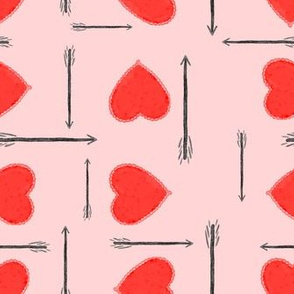 hearts and arrows - pink