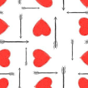 hearts and arrows - white