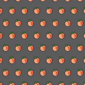 peach on gray