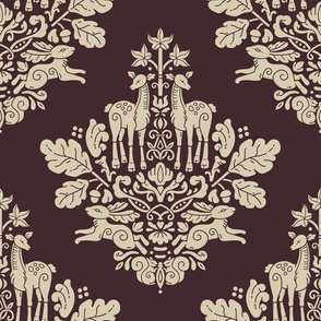 Woodland Damask Big scale