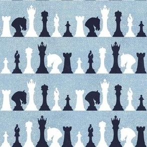 Chessmen on Purple