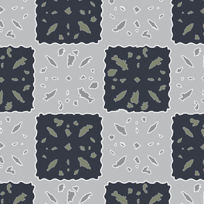 papercut patchwork blue nights & ultimate gray