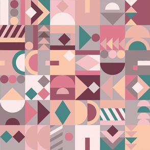 A small world of shapes - pastel (medium)