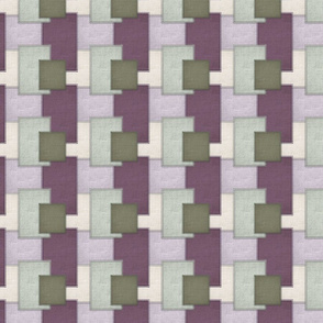 Patchwork in Mauves _ Greens