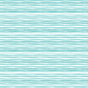 Teal/green  watercolor stripes
