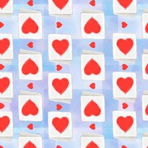 valentines day cards - blue tie dye