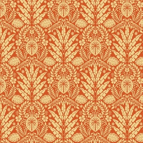 Hawaiian Damask - Red Medium Scale