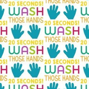 wash your hands - cute pandemic fabric