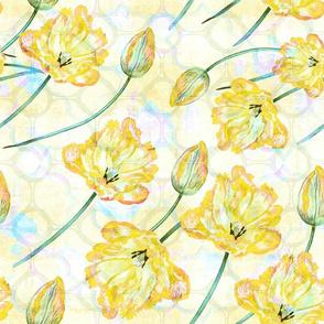yellow TULIP fresco