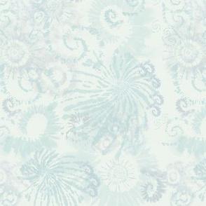 Soft Tie Dye in Pale Blue