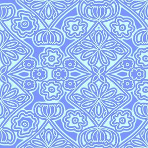 BLUE FLORAL WALLPAPER