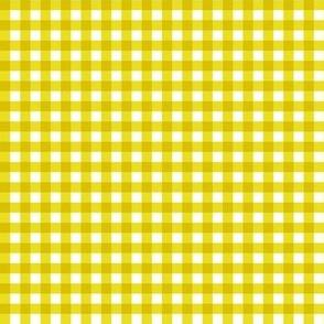 Gingham Yellow & White