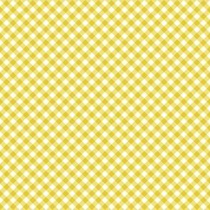 Gingham Yellow & White Bias