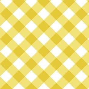 Gingham Yellow Bias