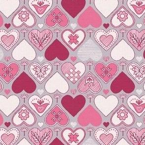 Sketchy Scandi Hearts © Julee Wood