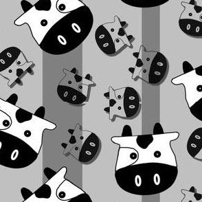 Medium Bouncing Ox (Gray On Gray)