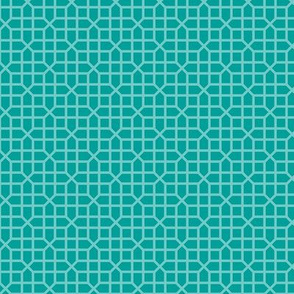 two-tone geometric pattern 15 in teal greens