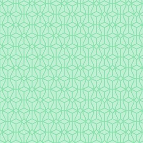 two-tone geometric pattern 16 in light greens