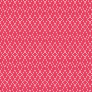 two-tone geometric pattern 15 in pink/red-orange