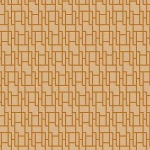 two-tone geometric pattern 19 in coppers