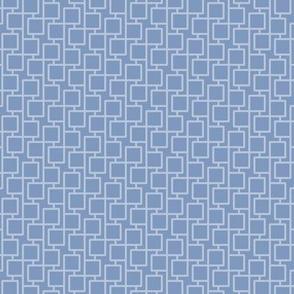 two-tone geometric pattern 20 in  slate blues