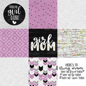 Girl Mom//Purple - Wholecloth Cheater Quilt