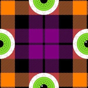 01111095 : tartan : seasonal = halloween eyeballs