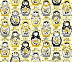 Yellow Nesting Dolls