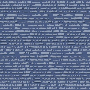 Stippled stripes - denim blue - small