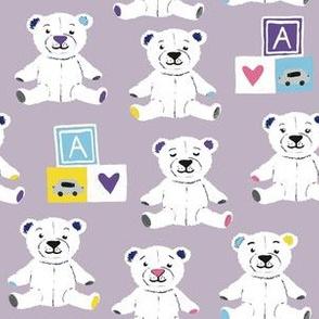 Teddy bears lilac