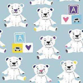 Teddy bears blue