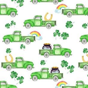 St. Patrick's Day Vintage Pickup Truck