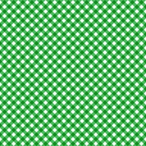 Gingham Green & White Bias