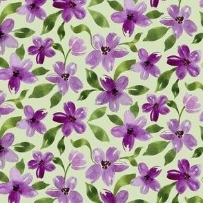 pretty in purple in light green