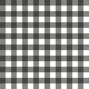 Gingham Black & Grey Small