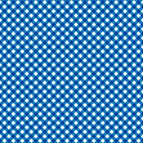 Gingham Blue & White Small
