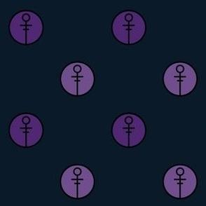 Purple Modern Symbol Polka Dot