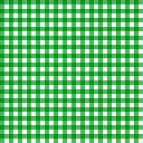 Gingham Green & White Small
