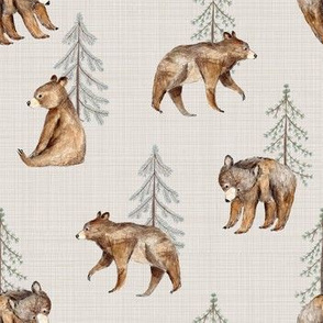 bear and tree beige